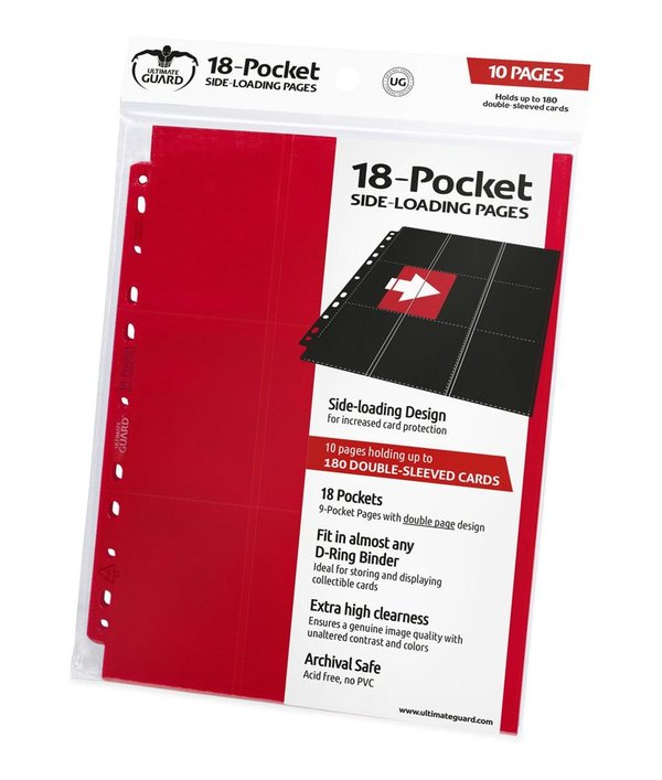 Ultimate Guard 18-Pocket Pages Side-Loading Rot (10)